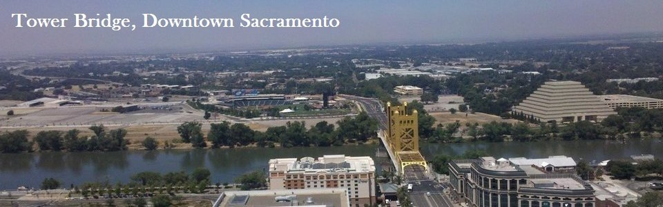 Tower Bridge and Stadium, Sacramento